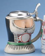 Dirndl, 0.5l with flat pewter lid