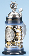 <div>0.75L U.S. Navy History Stein with Custom Lid and Badge</div><div><br></div>