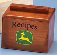 <div>John Deere Recipe Box with Logo</div><div><br></div>
