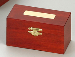 Wooden Box with Engraveable Badge