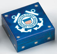 U.S. Coast Guard Wooden Box