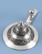 Stamped Conical Pewter Lid