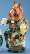 Custom Porcelain SCI Convention Horse Stein
