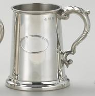 Personalised Engraved Tennis Stainless Steel Tankard st6